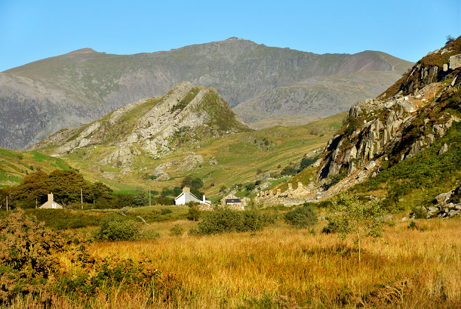 Snowdon from the Nantlle Valley