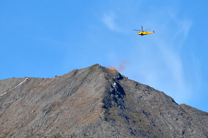 Three people (and a dog) rescued from Crib Goch